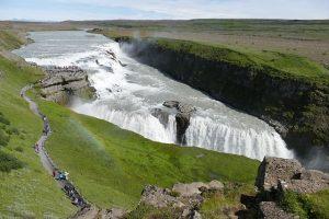 Islandia - Wodospad Gullfoss