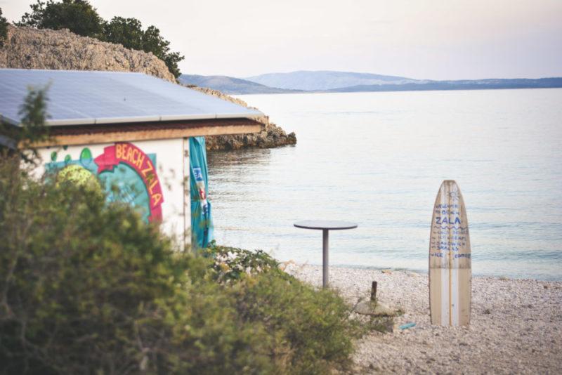 Sklepik na plaży Zala